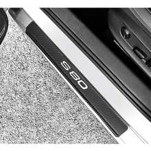 4pcs Carbon fiber Stickers car door sills protector Door Scuff Plate For Volvo S80 Car Interior Accessories