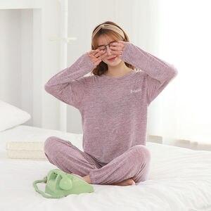 Image 5 - 女性の綿のパジャマセクシーな赤パジャマセット女性パジャマセットロングシャツパンツショーツ3ピース/スーツカジュアルホームウェアビッグサイズ