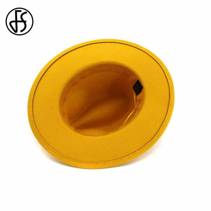 FS 2019 Jazz Topi untuk Pria dan Wanita Hangat Musim Dingin Musim Gugur Wol Floppy Cloche Topi Fedora Bowler Fedoras Sombrero Mujer vintage