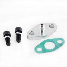 Kit adaptador 4an 4 da gaxeta da flange da entrada da alimentação do óleo do turbocompressor um t3 t3/t4 t04