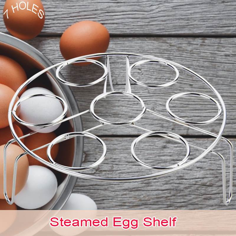 3 In 1 Boiled Egg Steamer Rack Stainless Steel Multi-function Steam Tray Insulation Shelf Steaming Tray Stand Kitchen Cookware