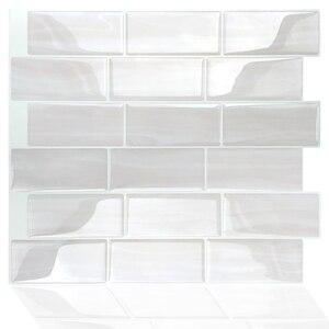 Домашний декор самоклеющиеся виниловые наклейки на стену 3D пилинг и палка метро кухня backsplash плитка-1 лист