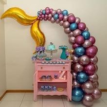 Mermaid Party Supplies Tail Balloon Garland set Under the Sea Arch Baby Shower Girl Birthday Decor