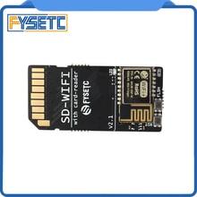 FYSETC SD WIFI 카드 리더 모듈 실행 ESPwebDev 온보드 USB 직렬 칩 무선 전송 모듈 S6 F6 터보 용