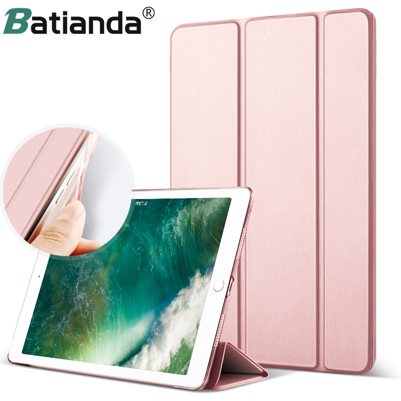 Case For IPad 2017 2018 9.7 Inch Model A1822 A1823 A1893 A1954 Lightweight Stand Smart Case Hard Back Cover With Soft TPU Edge