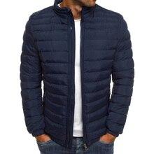 ZOGAA Hot Sale Men Winter Jackets Pocket Simple Winter Clothes Waterproof Zipper Parka Solid Puffer Jacket Mens Winter Coat