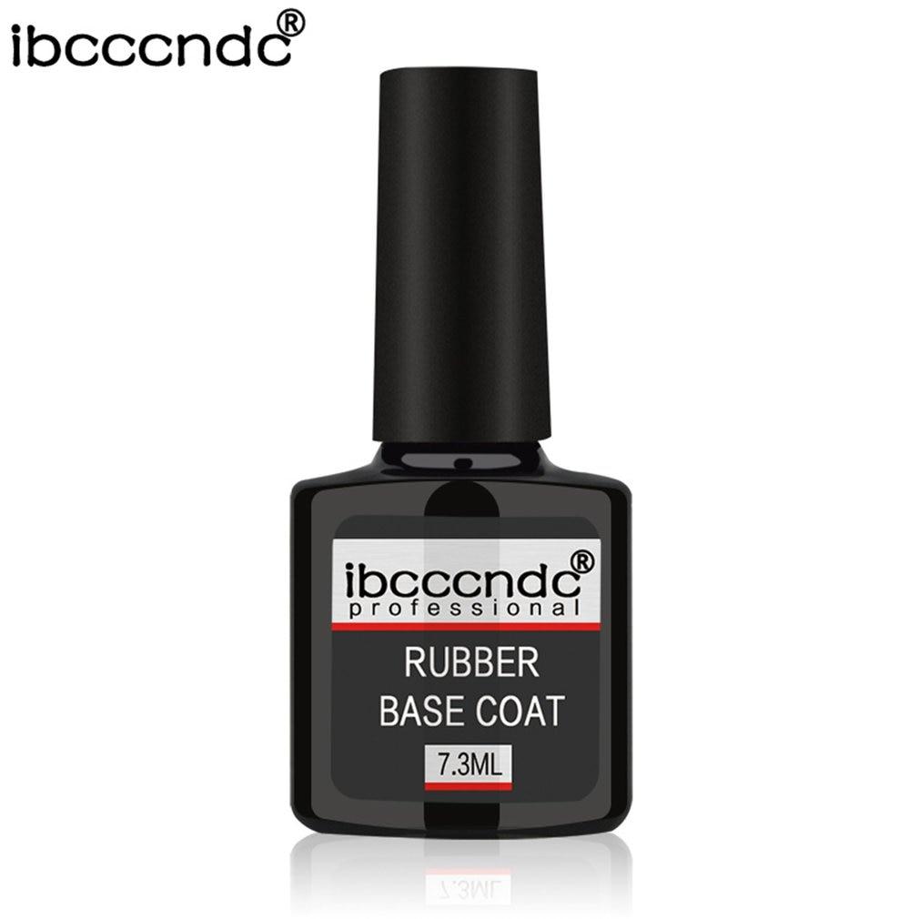 7.3ml Professional Rubber Base Coat Rubber Top Coat Soak-off Gel Nail Polish For Long Lasting Nails Layer Cure Under UV Lamp