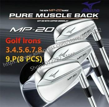 8 Uds MP20 grilletes conjunto de palos de Golf de hierro forjado profesional hoja de vuelta de los clubes de Golf 3-9P # R/S Flex eje de acero con cubierta de la cabeza