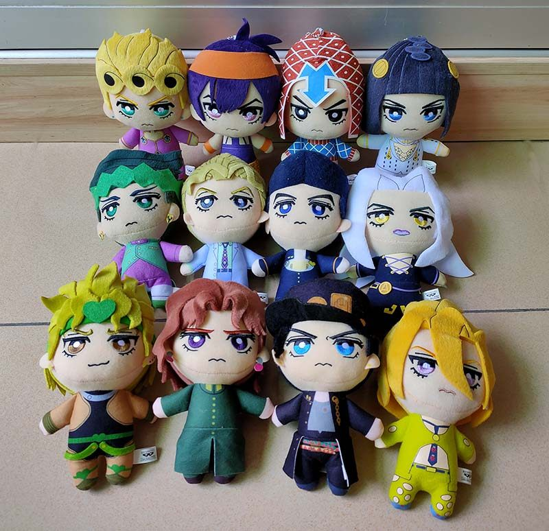NEW JoJos Bizarre Adventure Golden Wind Plush Giorno Narancia Mista PLUSH DOLL