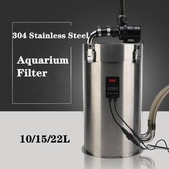 Aquarium Filter Ultra-quiet External Bucket Fish tank Grass Tank Stainless Steel Canister