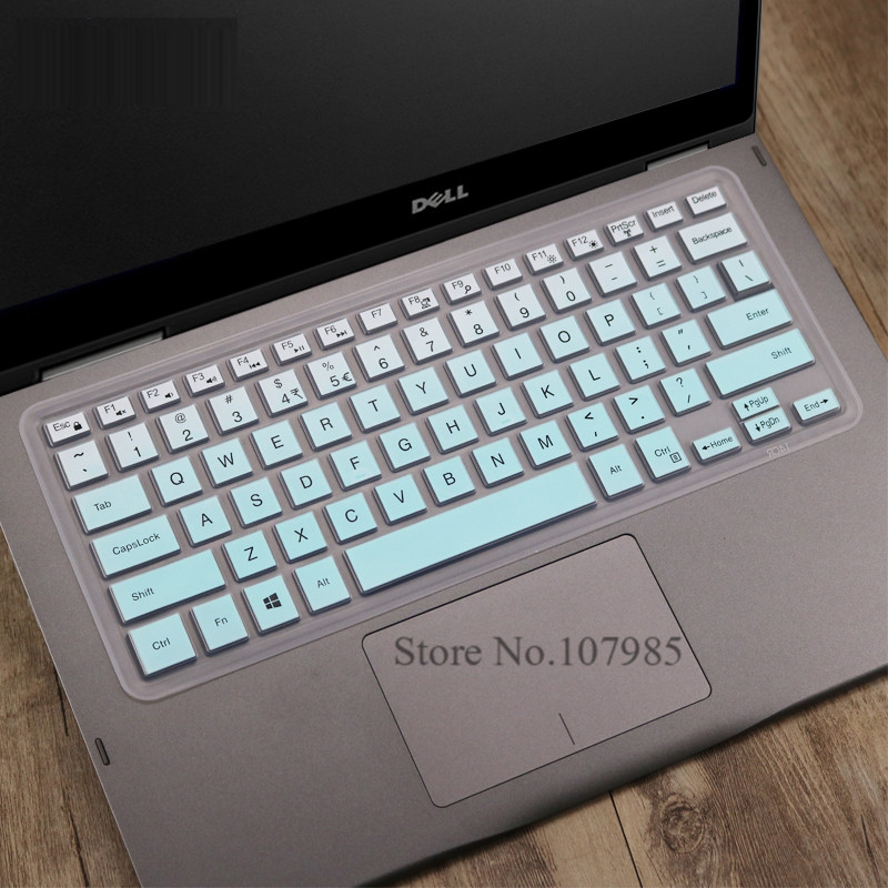 Laptop Silicone Keyboard Cover Skin for Dell Inspiron Inspiron 14 5000 Series 5480 3000 Series 3442 7000 Series 7437 14 Inch-Blue