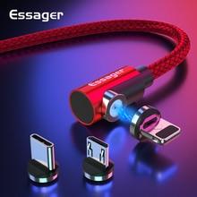 Магнитный кабель магнитная зарядка Essager Micro usb type C кабель для samsung Oneplus iPhone зарядное устройство магнит быстрый заряд кабеля USB C type-C шнур провода
