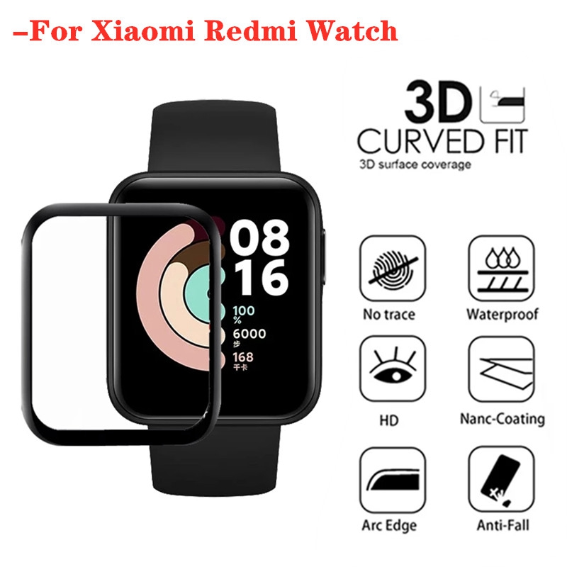 Пленка 3D с закругленными краями для Xiaomi Mi Watch Lite, мягкая защитная пленка для экрана с полным покрытием для Redmi Mi Watch Lite, 1-2 шт.