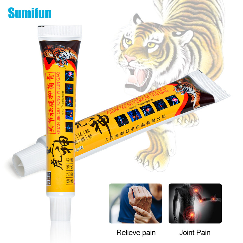1Piece Black Tiger Balm Ointment Chinese Medical Plaster For Rheumatoid Arthritis Joint Back Pain Relief Analgesic Cream P1088