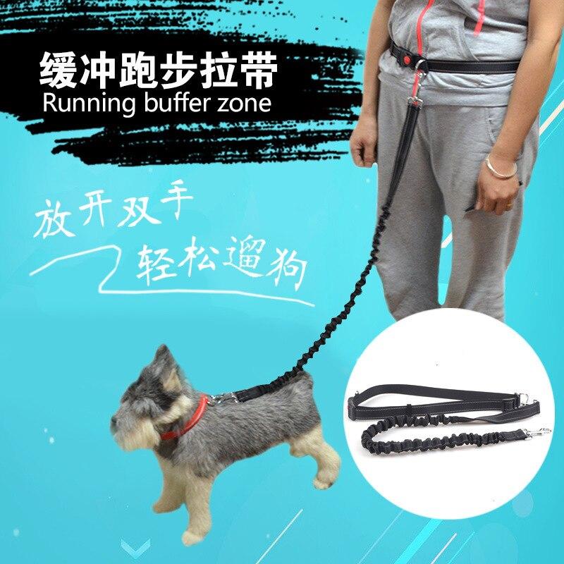 Pet Buffer Running Sling Pet Proof Punch Anti-Break Free Hand Holding Rope Morning Run Dog Chain