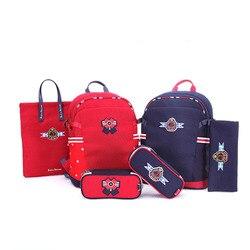 Bolso para niños 2020, nuevo, mochila roja para niñas y niños, bolso azul de moda, gran capacidad, correas de hombro anchas impermeables
