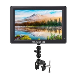 Feelworld T756 7 Inch IPS Full HD 4K On-Camera Monitor 1920 x 1200 Resolution / Support 4K Signal HDMI Input/ Output with Dull B