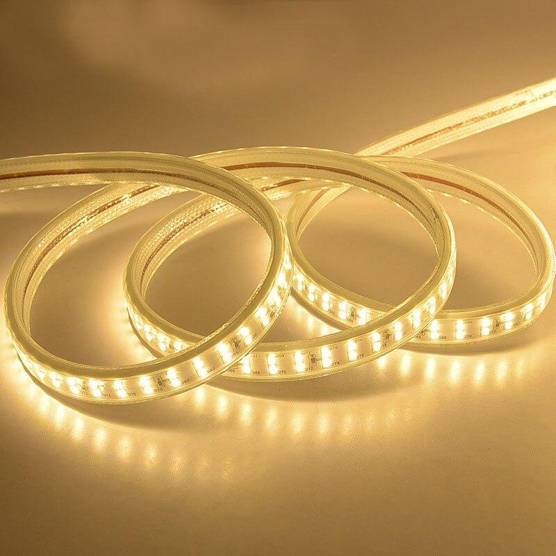 Impermeable IP68 doble fila 220 240V 100M 2835 Led tira de luz 180 leds/m cinta fría /Neutral/blanco cálido al aire libre alto brillo - 2