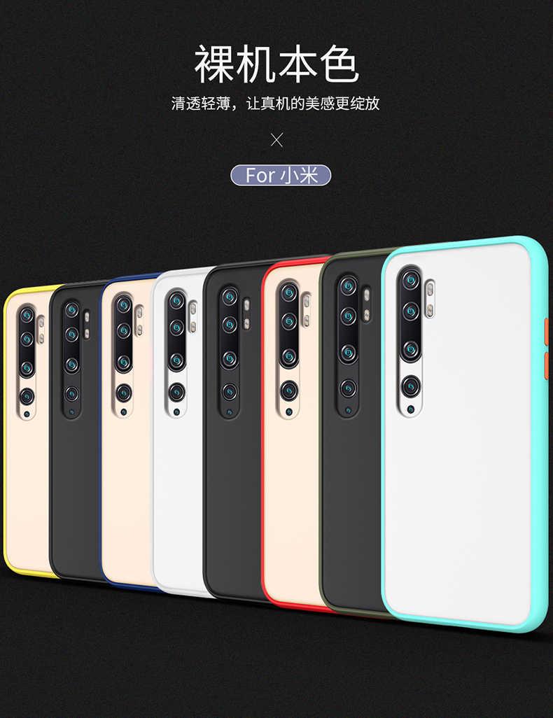 Untuk Xiaomi Mi Catatan 10 Lite Case Keras Transparan Matte Shockproof Pelindung Belakang Menutupi Case untuk Xiaomi Mi Note10 Lite 10 Lite