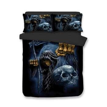 BEST.WENSD Hot Horror Movie 3D Bedding Set Printed Duvet Cover Set Twin Full Queen King Size Halloween Bones Bedset Dropshipping