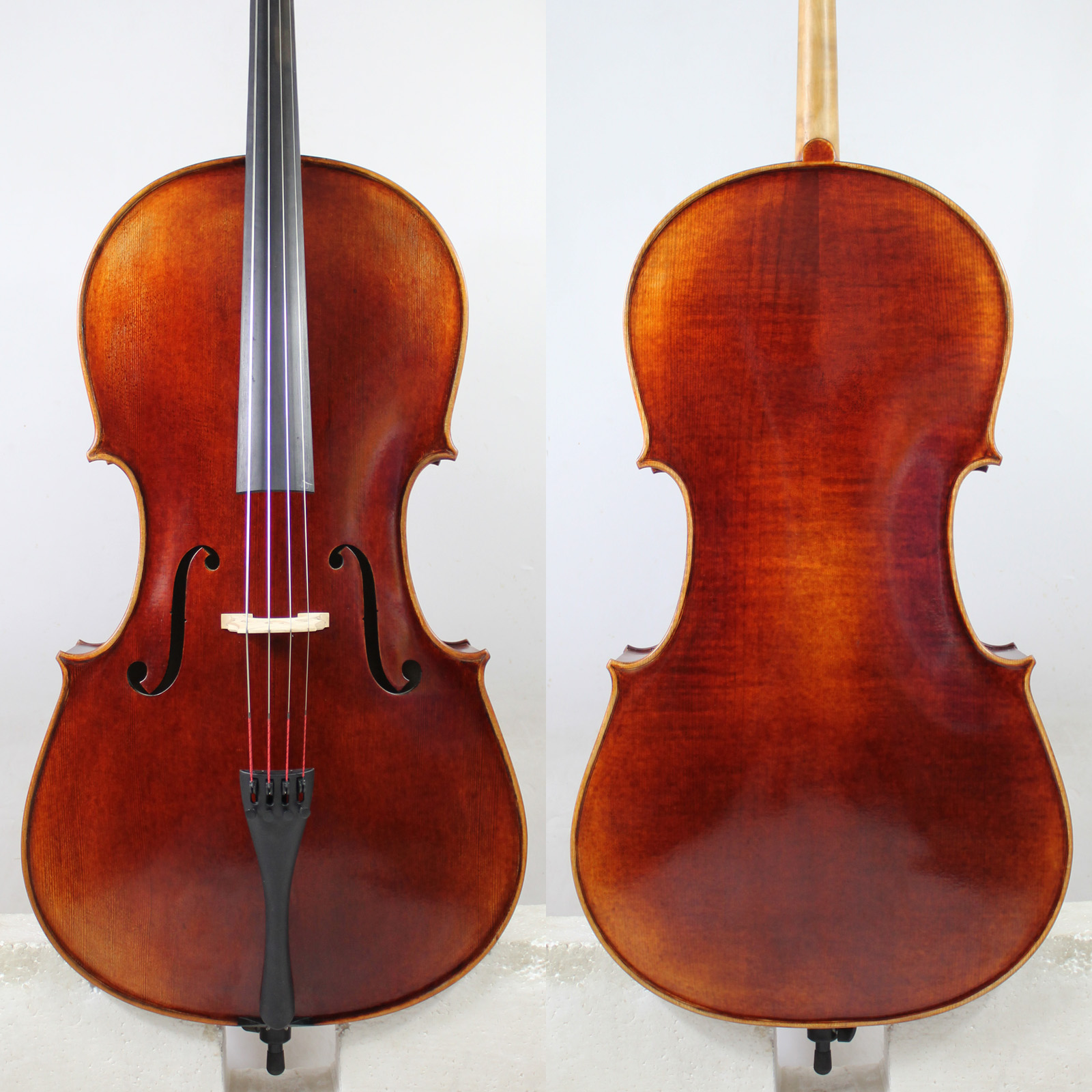 Super Value!A Stradivari 1690 Copy 4/4 Cello! M6135 German Dark Antique!