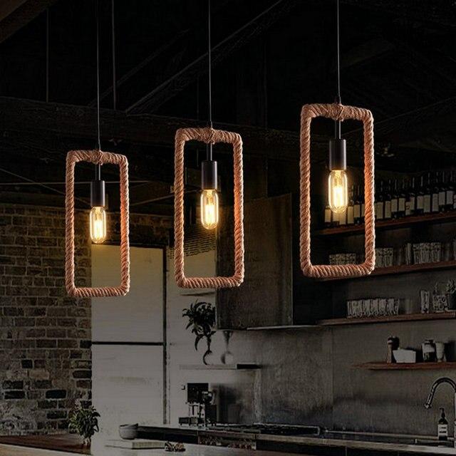 Vintage Industrieel Touwlamp 4