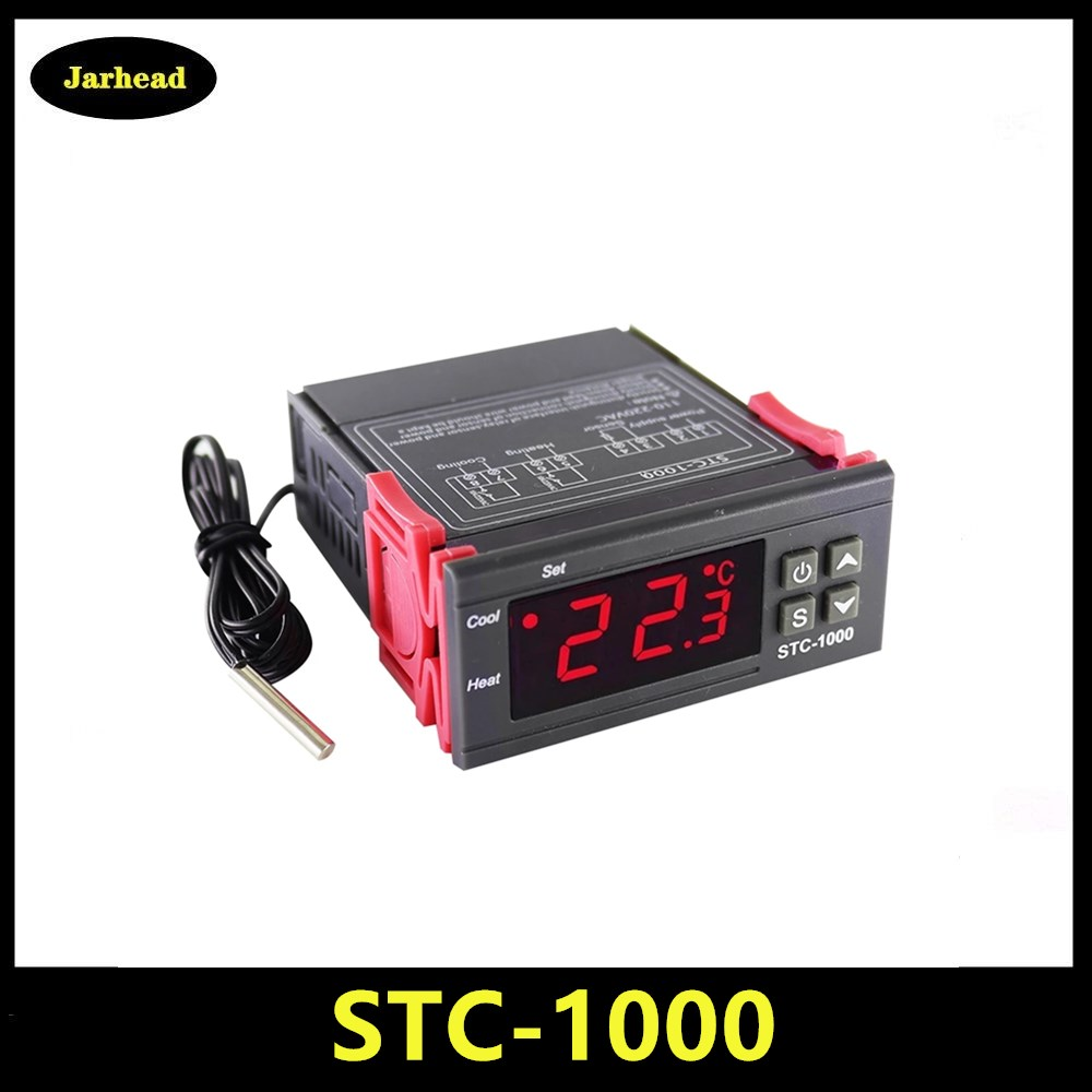 STC-1000 цифровой Температура контроллер термостат терморегулятор инкубатор РЕЛЕ Светодиодный 10A нагревательные охладительные STC 1000 12V 24V 220V