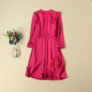 Image 3 - Princess Kate Middleton Dress 2020 Woman Dress O Neck Wrist Sleeve Elegant Dresses Work Wear Clothes NP0785J