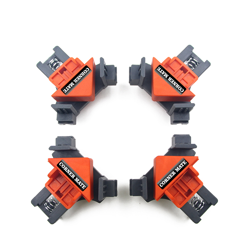 4pcs Woodworking 90 Degrees Right Angle Clamp Clip Quick Fixing Picture Frame Corner Clamps