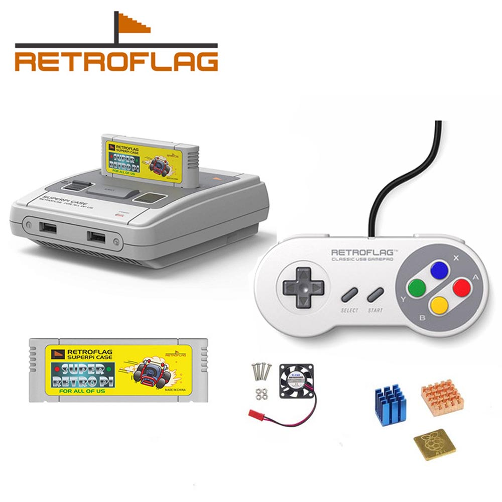 Retroflag SUPERPi CASE-J NESPi Case With Optional Game Controller For Raspberry Pi 3B Plus (3B+)/3B Free Shipping
