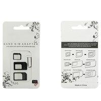 Adaptador de tarjeta SIM 4 en 1, Nano Micro SIM, adaptador de tarjeta SIM estándar, Pin de expulsión para teléfonos iphone 4, 4S, 5, 6, 6S, 7, 8, X Plus
