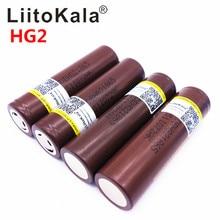 2019 8 Uds LiitoKala HG2 18650 18650 3000 mah energía de las baterías recargable alta descarga, 30A gran corriente