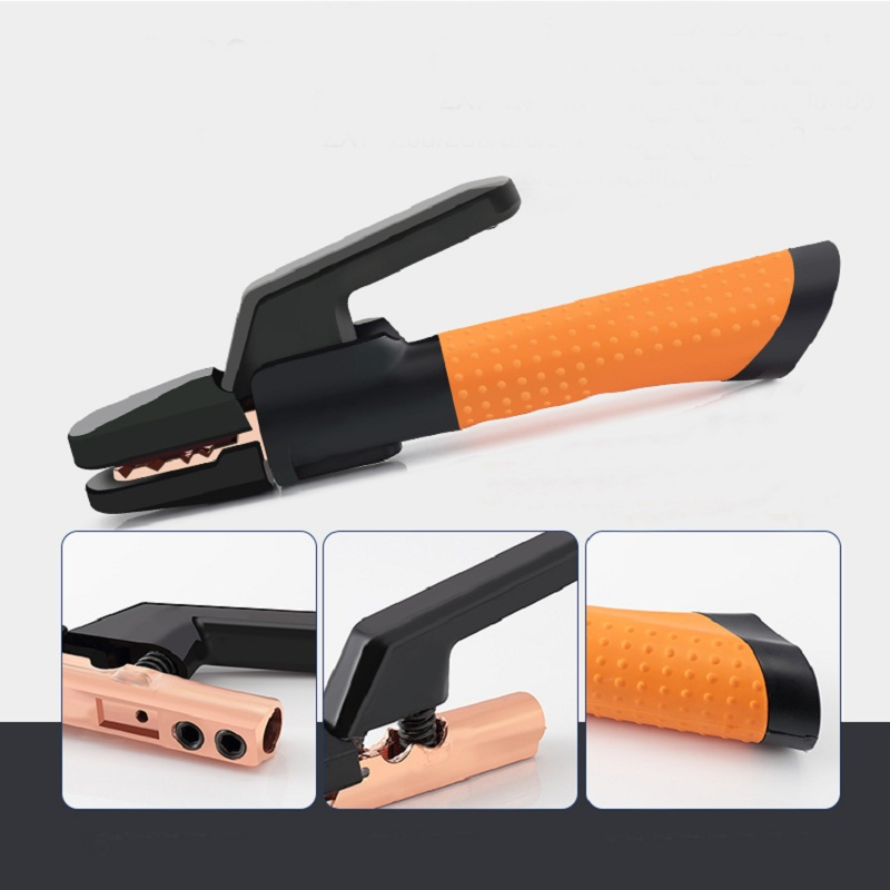 Professional Twist Welding Electrode Holder  Electrode Clamp 500A Forged Copper Tooth  CE Welding Clamp