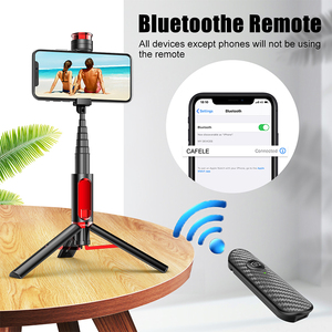 Image 5 - Cafele Wireless Bluetooth Selfie Stick For Huawei iPhone Xiaomi Extendable Foldable Monopod For Phone Camera Remote Control