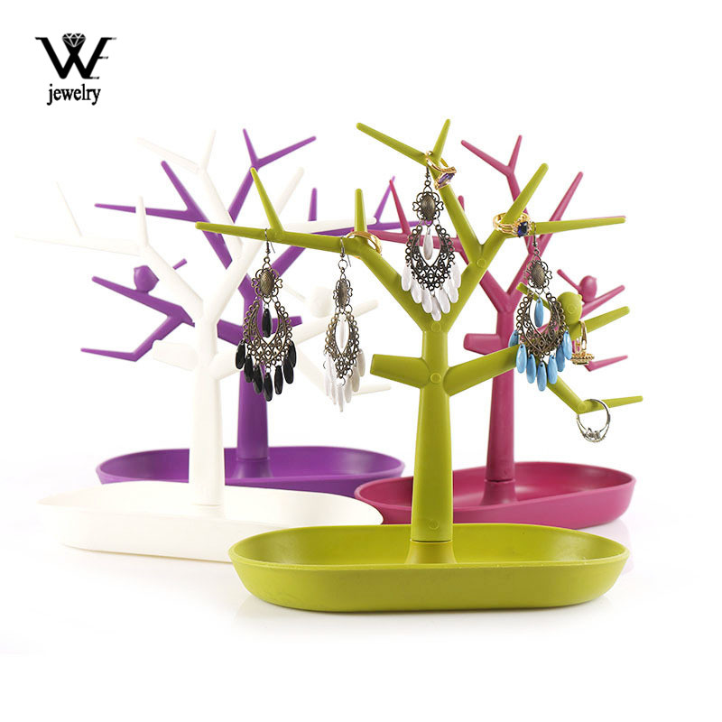 WE New Style Little Bird Earrings Necklace Ring Pendant Bracelet Jewelry Display Stand Tray Tree Storage Racks Organizer Holder