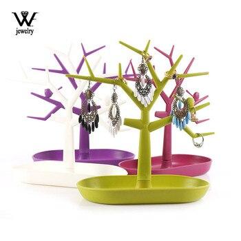 WE New Style-Soporte de exhibición para collar, pendientes, anillo, pendiente pulsera joyería, bandeja de árbol, estantes de almacenamiento, Organizador