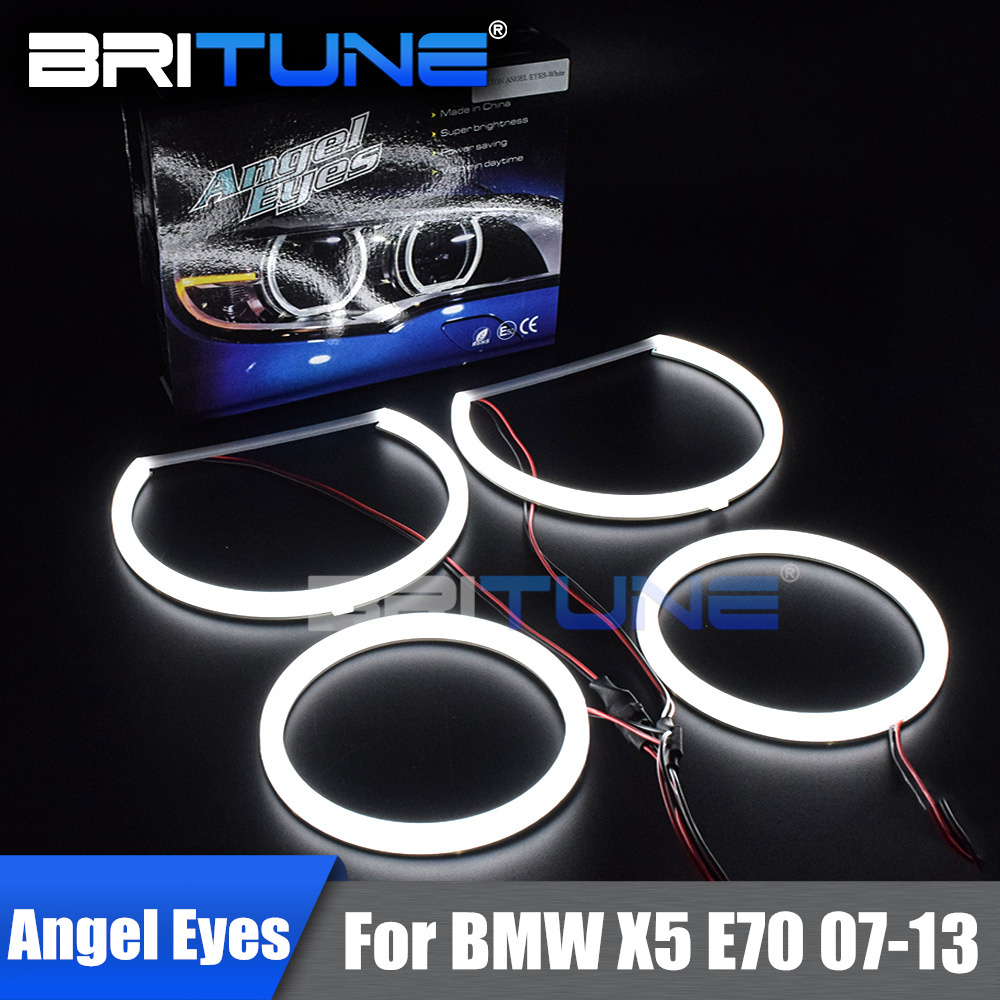 Angel Eyes For BMW E70 X5 2007-2013 Halogen Xenon Headlight LED Cotton Light Halos Switchback Lamp Tuning Car Accessories DIY