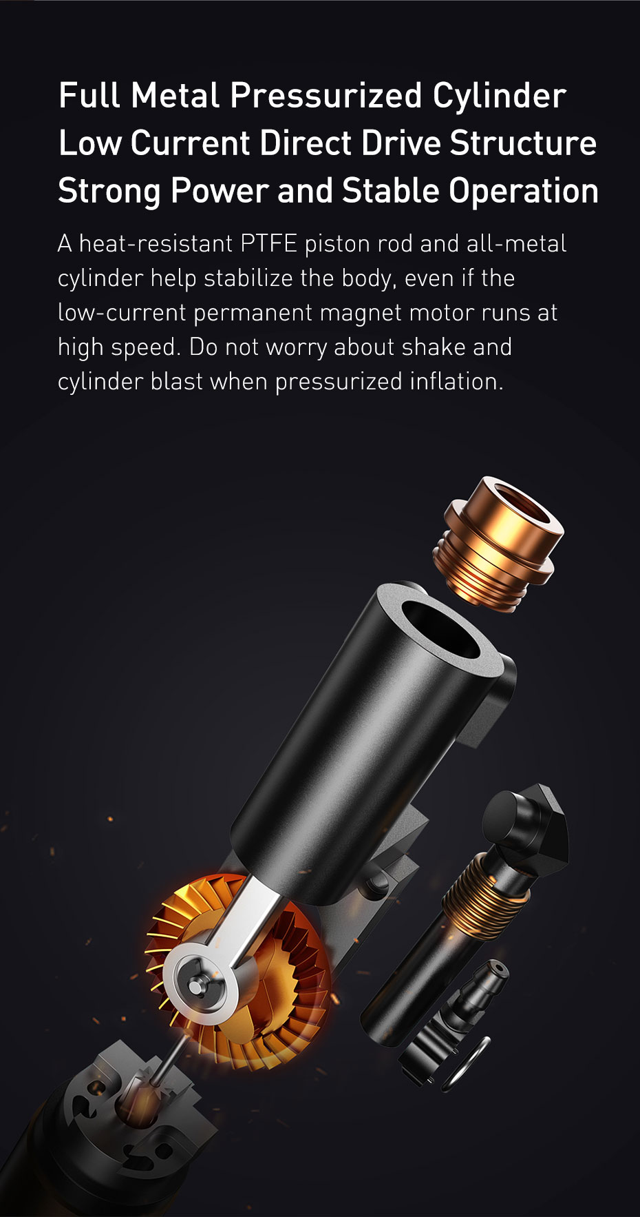 H764bfdce3ce149c6b4020da6f2d7cd2eg - Baseus 7500mAh Car Air Compressor 12V Portable Electric Tyre Tire Inflator Mini Auto Air Inflatable Pump For Car Bicycle Boat