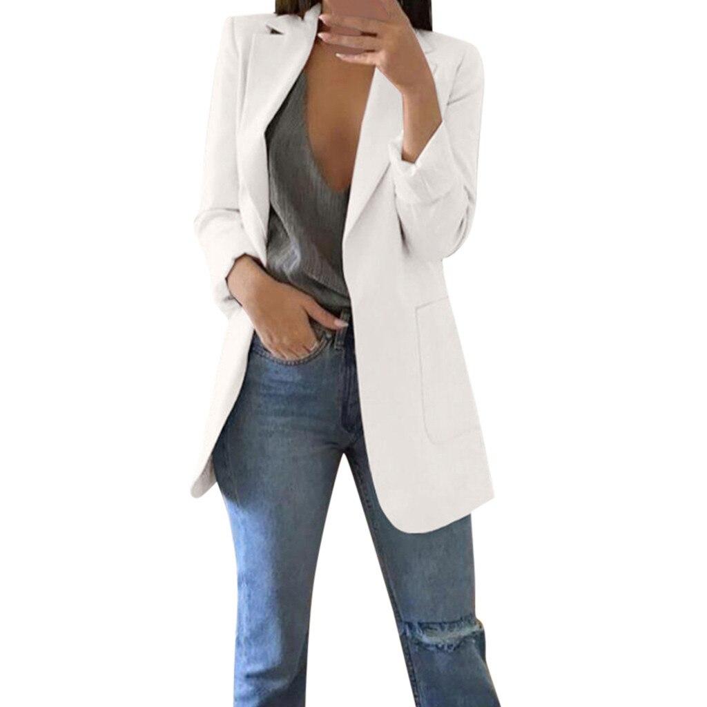 Ladies Blazers And Jackets Autumn Winter Women Long Sleeve Office Coat Eleagnt Blazers Plus Size Blazer Longo Feminino Z0802