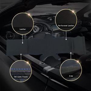 Image 3 - Bmw e46 e39 330i 540i 525i 530i 330ci m3 2001 2003 용 스티어링 휠 커버의 자동 브레이드 인테리어 카 스티어링 휠 커버