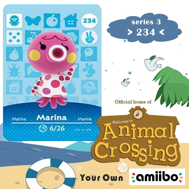 234 Animal Crossing Amiibo Card Marina Amiibo Card Animal Crossing Series 3 Marina Nfc Card Work For Ns Games Fast Shipping