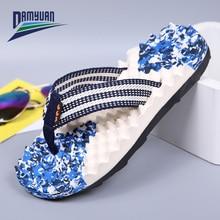 Damyuan 2020 New Fashion Summer Men Flip Flops High Quality Beach Slippers Anti-slip Thick-soled Sandals Slippers Toe Sandals new birkenstock salina women flip slippers anti slip birkenstock 850 flip flop beach slippers man sandals