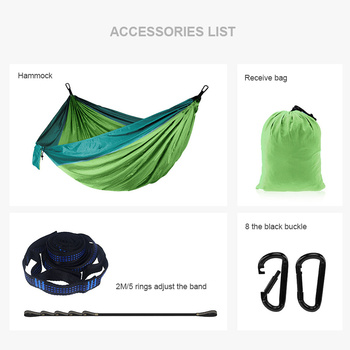 Camping Hammock Double Travel Hammock Backpacking Hammock Safety Swing Portable Parachute Hammock Outdoor Sleeping ultralight portable parachute hammock outdoor leisure double hammock outdoor furniture camping hammock garden swing chair gift