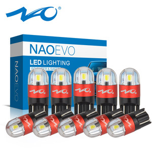 NAO T10 LED 10pcs W5W LED Bulb 3030 Car Light 5W5 Turn Signal Auto Clearance Lights 12V License Plate Light Trunk Lamp COB SMD(China)