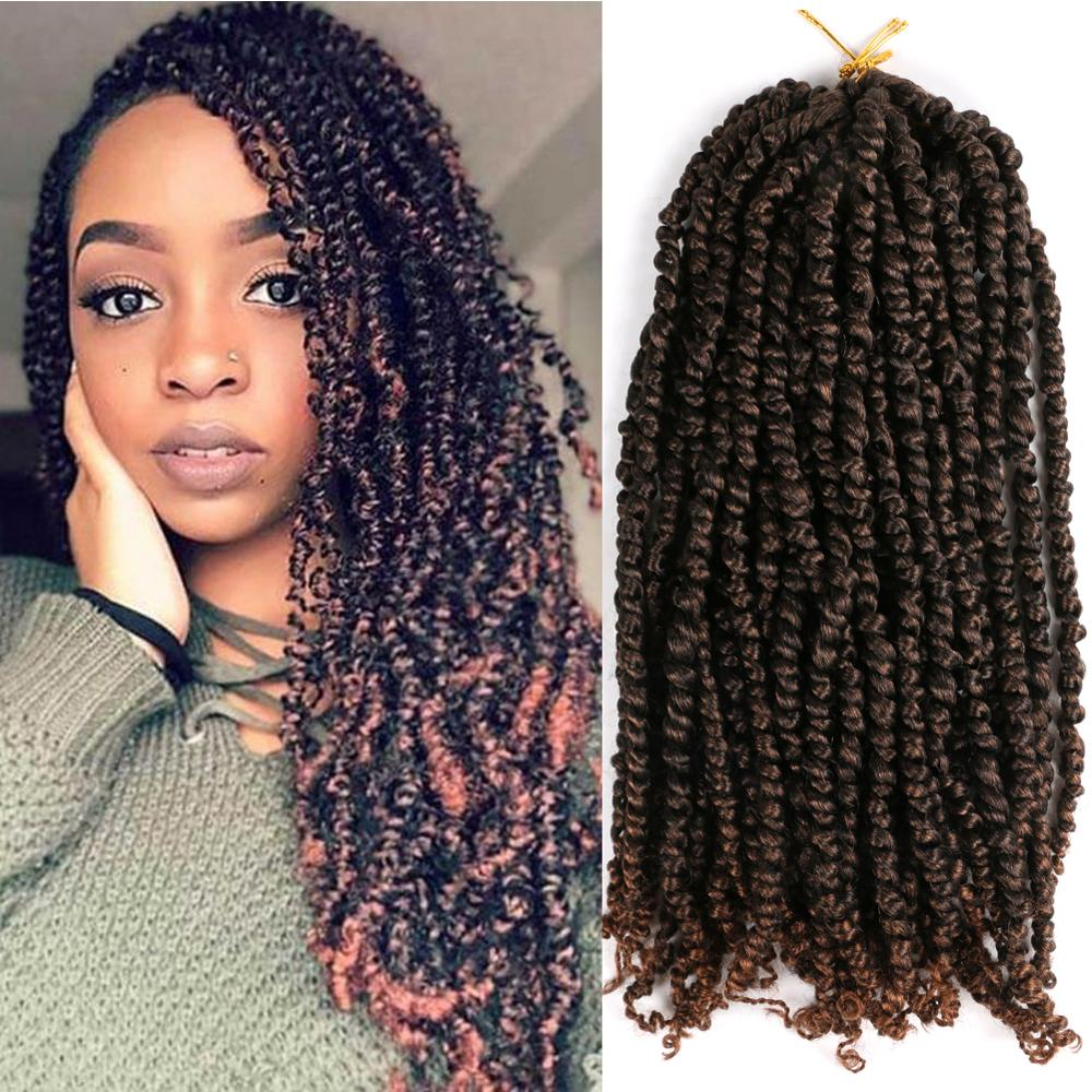 Passion Twist Braids X2 Crochet Braiding Hair Synthetic Crochet Hair Extensions High Temperature Fiber Braiding Hair For Women