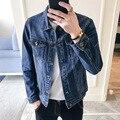 Autumn New Style Jeans Coat Men Korean-style Slim Fit Fashion Jeans Coat Men's Cowboy Clothing Fashion 802
