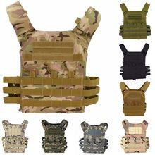 цена на 9 Colors JPC Tactical Vest Molle Combat Hunting Airsoft Vest Paintball Protective Plate Carrier JPC Military Combat Gear Vests