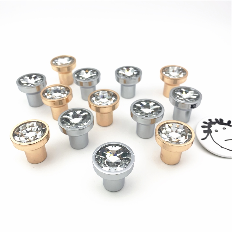 LCH Free Shipping 12mm 16mm 18mm 20mm Clear Crystal Diamond Jewelry Box Drawer Knob Gift Box Pull mini cupboard handle door pull