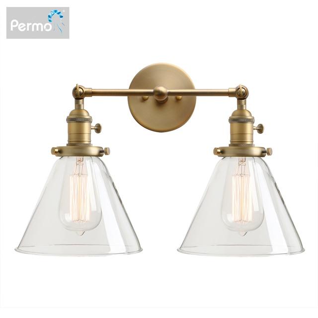 Permo 現代の壁灯壁ランプ燭台 7.3 漏斗ガラスランプシェード wandlamp 寝室ミラーライトロフト装飾照明器具