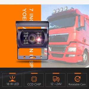 Image 5 - Lkw DVR Dash Kamera 4 Kanal Cam Backup Video Recorder Kit CCTV Rückansicht Monitor Auto Bus IR Nacht Vision visture D008